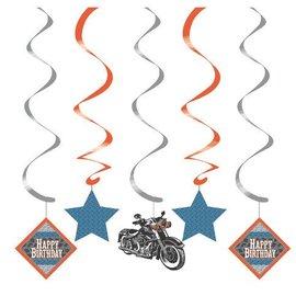 "Danglers-Foil Swirl-Cycle Shop-5pkg-36"""