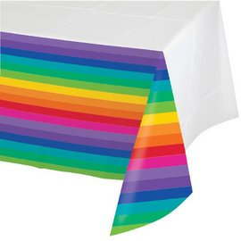 Tablecover-Rectangle-Rainbow-54''x102''-Plastic- Discontinued