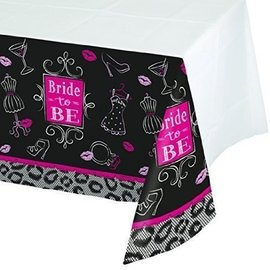 Tablecover-Rectangle-Bridal Bash-54''x102''-Plastic  (Discontinued)