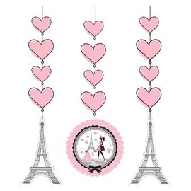 Hanging Cutouts-Party in Paris-3pkg-36""