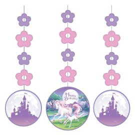 "Hanging Cutouts-Unicorn Fantasy-3pkg-36"""