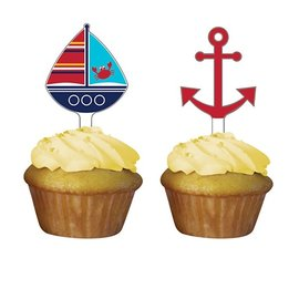 Cake Toppers-Ahoy Matey-2''x2.75''-12pkg