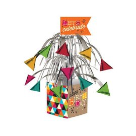 Centerpiece-Foil Cascade-Birthday Kraft-1pkg-12""