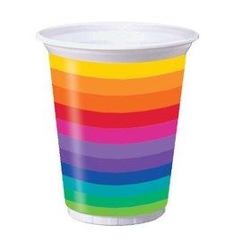 Plastic Cups-Rainbow-8pkg-16oz - Discontinued