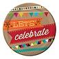 Plates-BEV-Birthday Kraft-8pkg-Paper - Discontinued