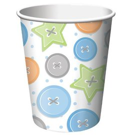Paper Cups-Cute as a Button Boy-8pkg-9oz - Discontinued