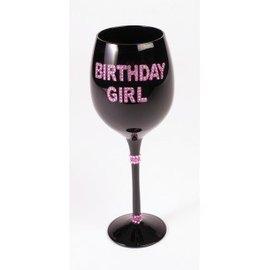 Wine Glass-Birthday Girl-1pkg-8.8oz