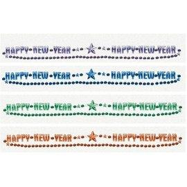 Bead Necklace-Happy New Year-Jewel Tone Beads-32''