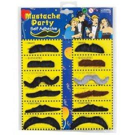 Costume Accessory-Moustache-Self Adhesive-12pkg