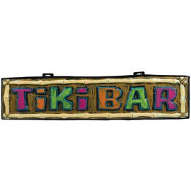 Banner-Tiki Bar-Summer Luau-10'' x 42''