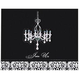 invitations-Elegant Chandelier Large Novelty-8pk