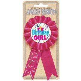 Award Ribbon -Bday Girl-5.5''