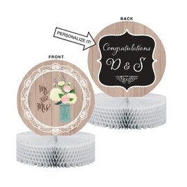 Centerpiece-Honeycomb-Mr. & Mrs. Rustic Wedding-1pkg-10""