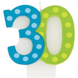 Candle-Bright & Bold 30th Birthday-1pkg