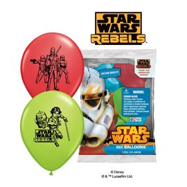 Balloons-Latex-Star Wars-6pk