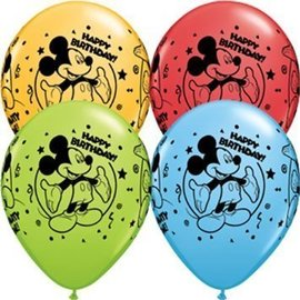Balloons-Latex-Mickey Mouse-6pkg-12""
