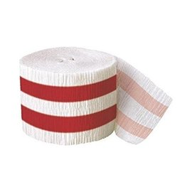 Streamer-Red Stripe-30Ft-Paper