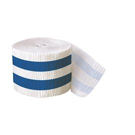 Streamer-Royal Blue Stripe-30Ft-Paper