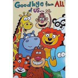 "Jumbo Card-Jungle Animals Goodbye-1pkg-24""x17"""