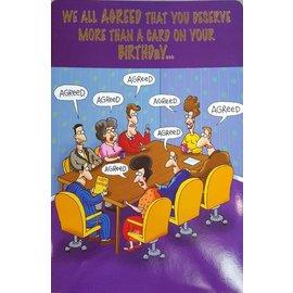 "Jumbo Card-Happy Birthday From All of Us-1pkg-24""x17"""