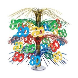 Centerpiece-Multi Color Cascade-80th Celebration-1pkg-18""