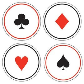 Cardboard Coasters-Casino Card Night-6pkg