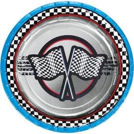 Plates-BEV-Racing Flag-8pkg-Paper - Discontinued