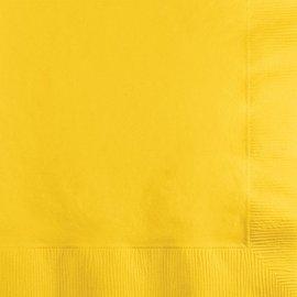 Napkins-BEV-School Bus Yellow-50pkg-2ply