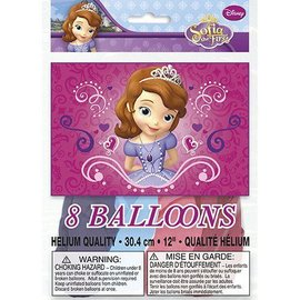 Balloons-Latex-Sofia the First-8pk