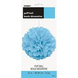 """Puff Ball-Light Blue- 16"""""""