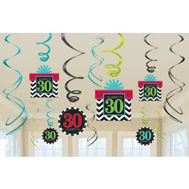 Swirl Decoration-30th HBD-12pk