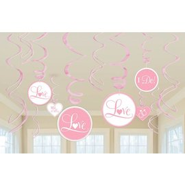 Swirl Decorations-New Pink-12pk