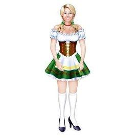 Jointed Cutout-Oktoberfest Fraulein-1pkg-3.2ft