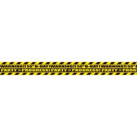 Party Tape #50th-plastic-45ft x 3in