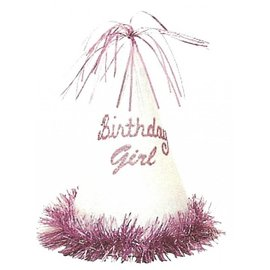 Hats-Birthday Girl-Pink-Foil