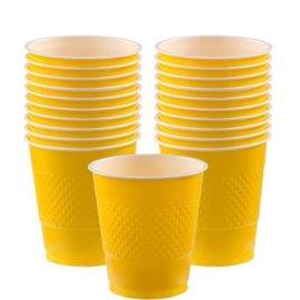 Cups-Yellow Sunshine-20pkg/12oz-Plastic