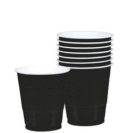 Cups -Jet Black-20pkg/12oz-Plastic