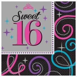 Napkins-LN-Sweet 16 Celebration-16pk-2ply