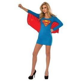 Costume Super Girl Shirt with Cape-Adult Medium