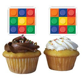 Cupcake Toppers-Block Party-12pkg
