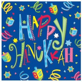 Napkins-Bev-Hanukkah Fun-16pk-3Ply