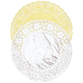 Doilies-Silver-14.5""
