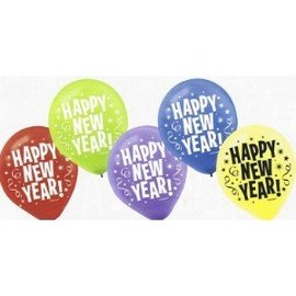 Balloons-Latex-Jewel Tone-New Year-15pk