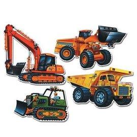 """Cutouts-Construction Vehicles-4pkg-14""""-21"""""""