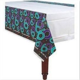 Table Cover-the party continues 60th Bday-Plastic-54'' x 102''
