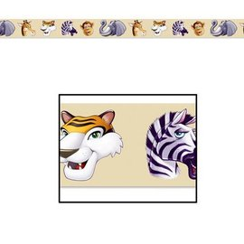 Party Tape-Plastic-Jungle Animals-1pkg-20ft