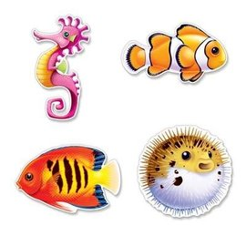 "Cutouts-Under the Sea Fish-4pkg-12.25""-13.75"""