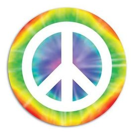 Cutout-Tie Dye Peace Sign-1pkg-13.5""