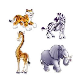"Cutouts-Jungle Animals-4pkg-15.5""-25"""