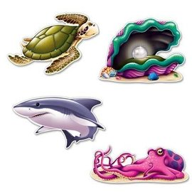"Cutouts-Under the Sea Creatures-4pkg-14.25""-16"""